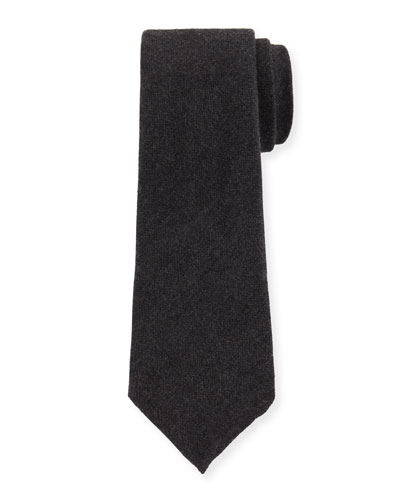 Solid Silk/Cashmere Tie