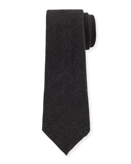 Canali Solid Silk/Cashmere Tie