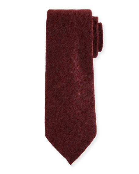 Silk-Cashmere Tie, Red
