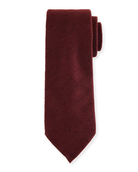 Canali Silk-Cashmere Tie, Red