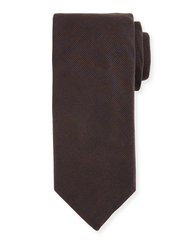 Silk-Cashmere Tie, Brown