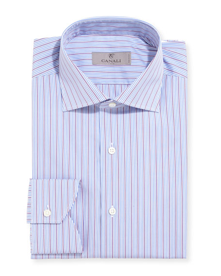 Modern-Fit Multi-Stripe Dress Shirt