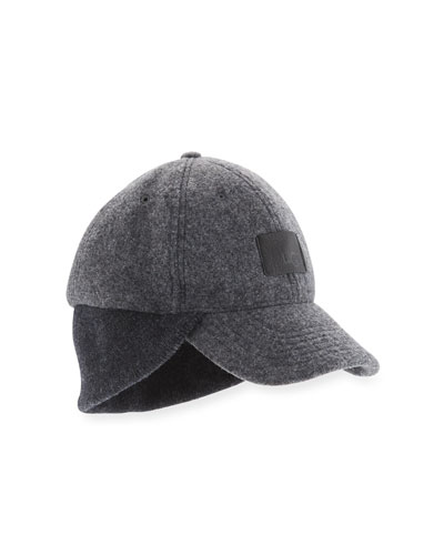 Wool Knit-Trim Baseball Hat