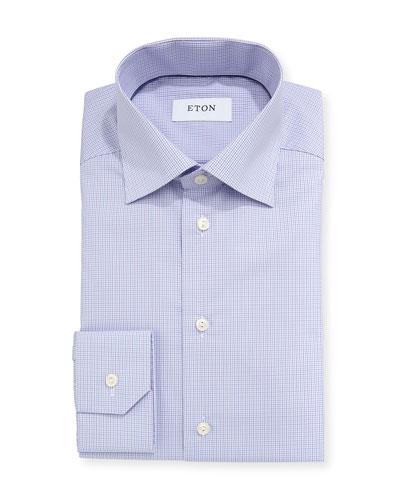 Contemporary-Fit Tattersall Dress Shirt