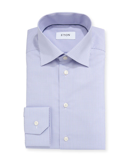 Contemporary-Fit Tattersall Dress Shirt
