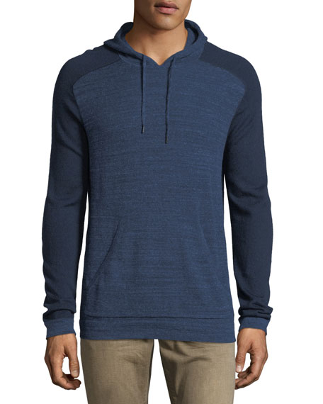 John Varvatos Star USA Saddle-Shoulder Cotton-Wool Hoodie