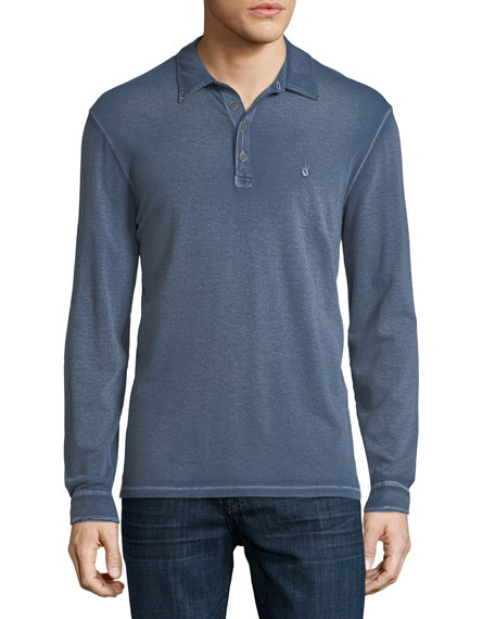 John Varvatos Star USA Peace Sign Long-Sleeve Rugby