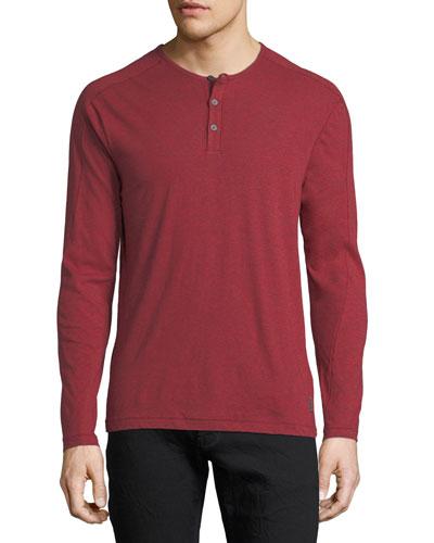 Slub Cotton Henley T-Shirt