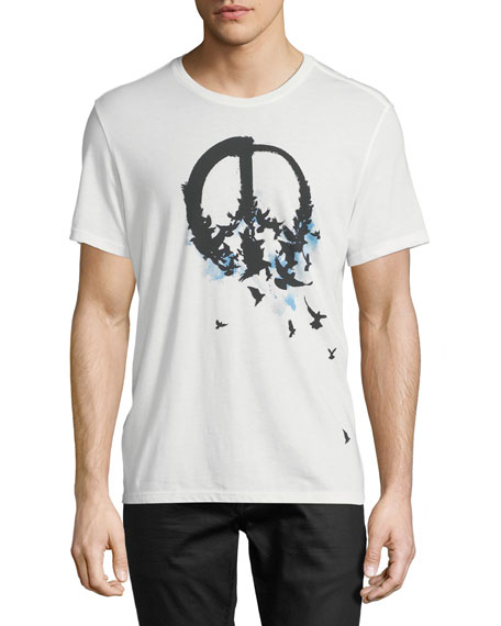 Peace with Birds Graphic Tee