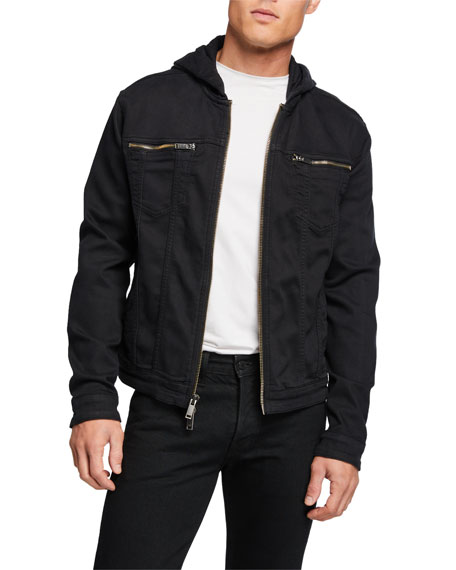John Varvatos Star USA Hooded Jean Jacket