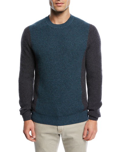 Cashmere Two-Tone Sweater