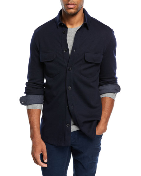 Loro Piana Cashmere-Blend Over Shirt