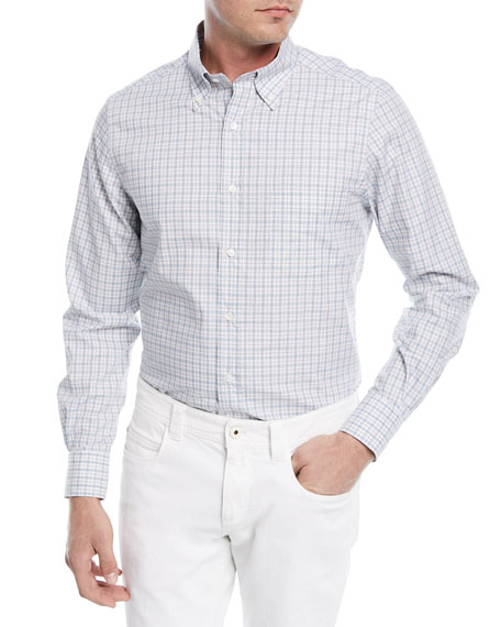 Loro Piana Alfred Check Cotton Sport Shirt