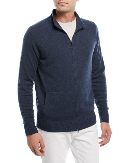 Loro Piana Cashmere Zip-Front Sweater