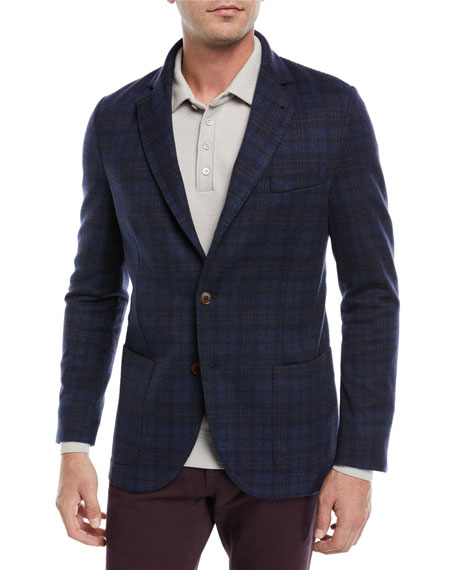 Loro Piana Overcheck Knit Sport Coat