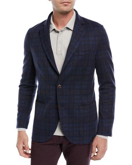 Loro Piana Overcheck Knit Sport Coat