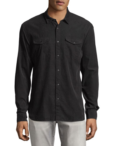 Corduroy Snap-Front Sport-Shirt