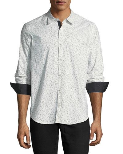 Slim-Fit Button-Front Sport Shirt