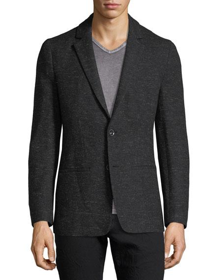 Two-Button Sweater Blazer