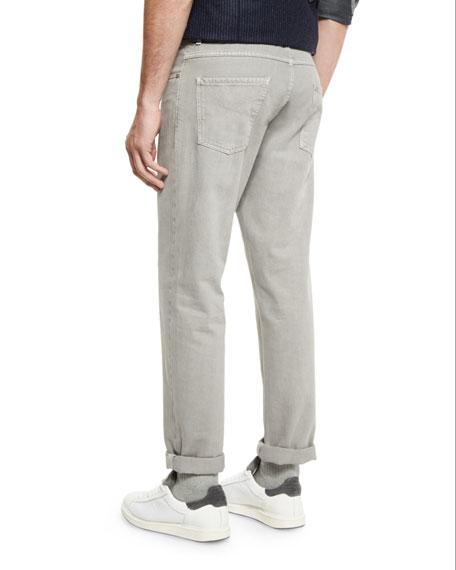 Five-Pocket Cotton Denim Pants