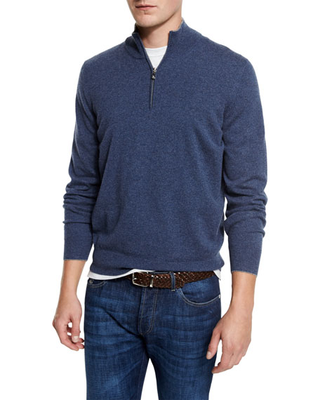 Brunello Cucinelli Cashmere Quarter-Zip Pullover Sweater