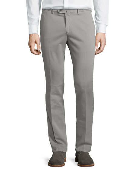 Loro Piana Soft Stretch-Cotton Slim-Fit Pants