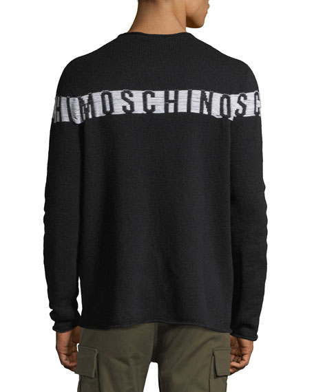 Logo Intarsia Wool-Silk-Cashmere Sweater