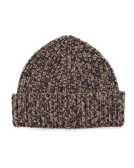 Ermenegildo Zegna Cashmere Marled Beanie Hat