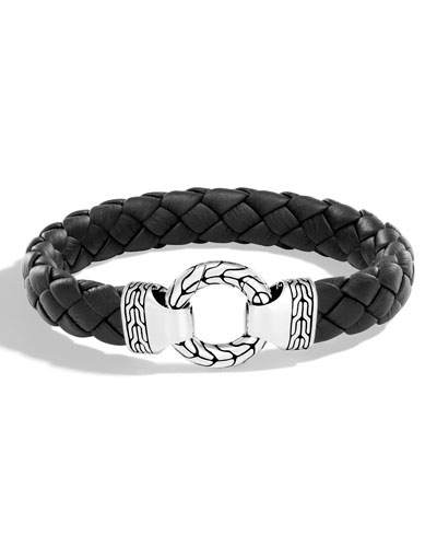 Men's Classic Chain Braided Leather Bracelet