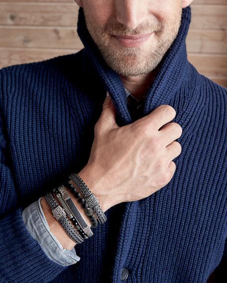 Men's Classic Chain Rhodium-Plated Bracelet with Diamonds