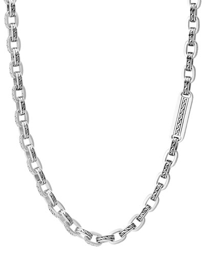 Men's Classic Chain Link Sterling Silver Necklace