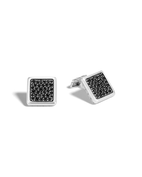 John Hardy Classic Chain Cuff Links with Black