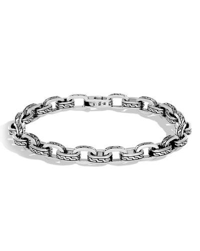 Men's Classic Chain Link Sterling Silver Bracelet