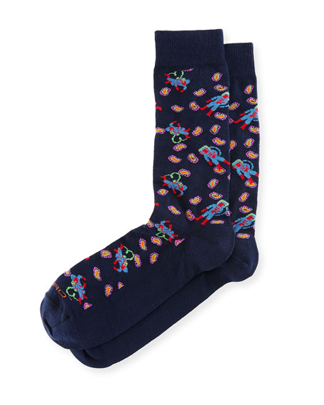 Etro Astronaut Paisley Socks
