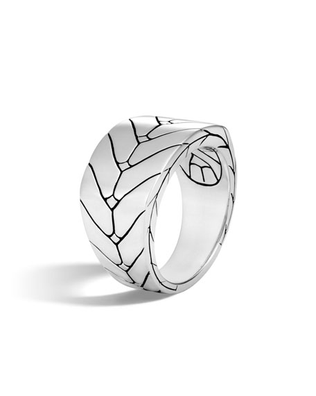 Men's Modern Chain Sterling Silver Band Ring