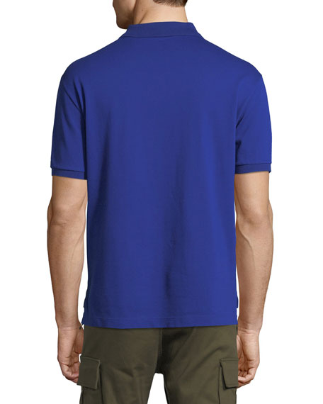 Pique Polo Shirt with Tonal Logo
