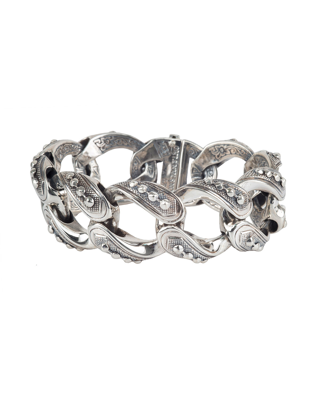 Konstantino Mens Sterling Silver Link Bracelet yneovMUbI