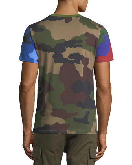 Multi-Camouflage Cotton T-Shirt