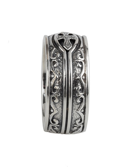 Men's Sterling Silver Cross Ring