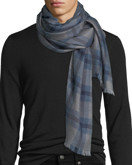 19andreas47 Cashmere-Blend Plaid Scarf