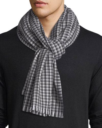 Check Wool Scarf
