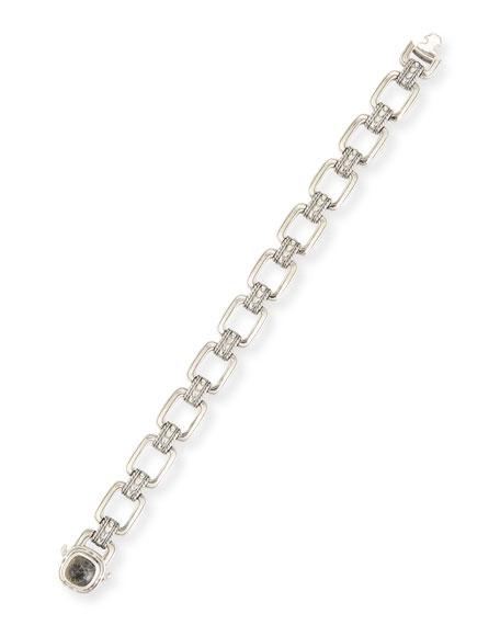 Konstantino Heonos Men's Sterling Silver Link Bracelet w/