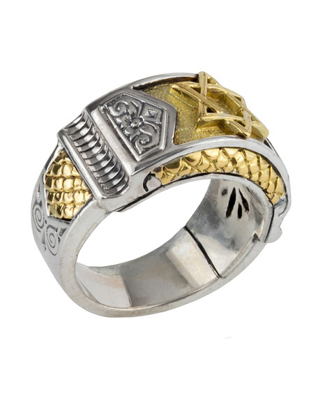 Konstantino Men's Sterling Silver & Gold Star of