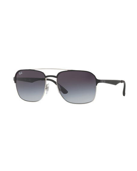 Ray-Ban Metal Navigator Sunglasses, Black