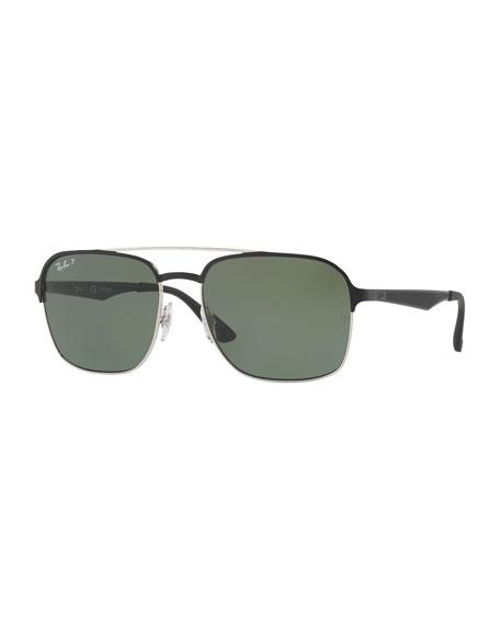Ray-Ban Metal Navigator Sunglasses, Black
