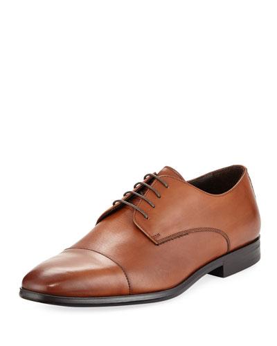 Leather Cap Toe Derby Shoe