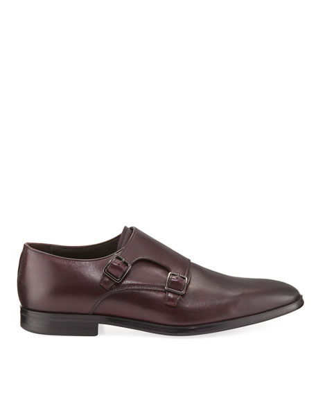 Leather Double-Monk Shoe