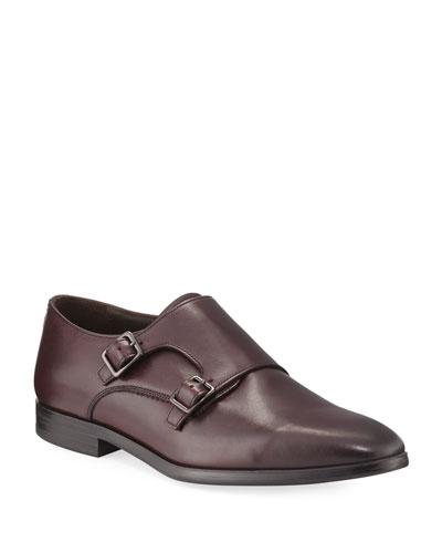 Leather Double-Monk Shoe