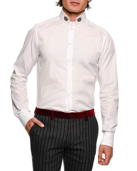 Dolce & Gabbana Crown-Collar Cotton Shirt