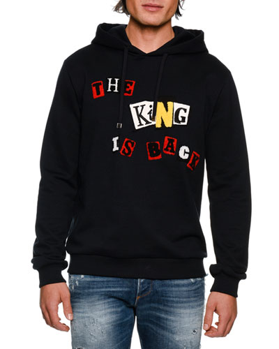 The King is Back Cotton Hoodie